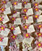 Sacchetto trasparente con confetti e Marsh mallow